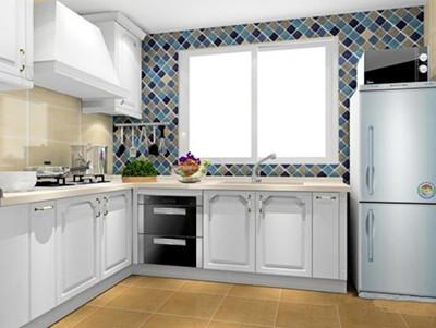 欧式方形厨房柜子效果图