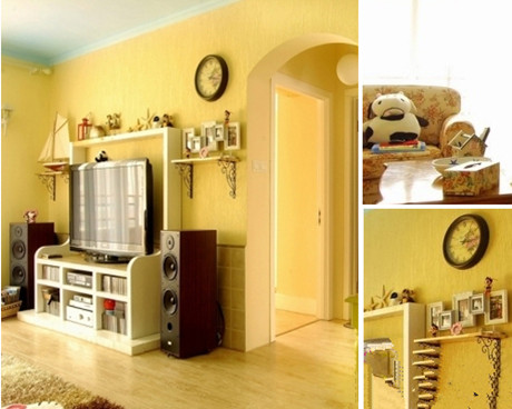 节约空间 小户型田园风格装修效果图-3158家居网
