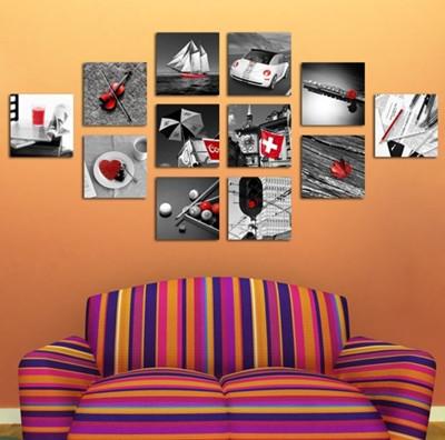 正方形的,长方形的,椭圆形的框子,给墙面一点活力.