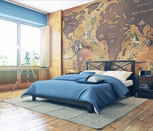 田园风格床头背景墙设计效果图