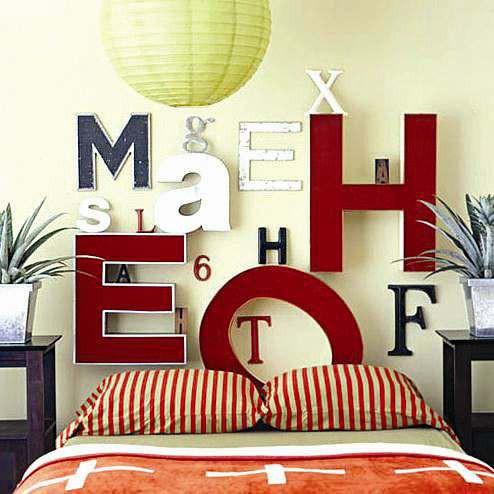 创意床头背景墙设计效果图