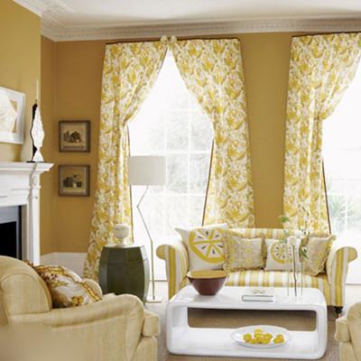 客厅窗帘别样设计 打造动人居室
