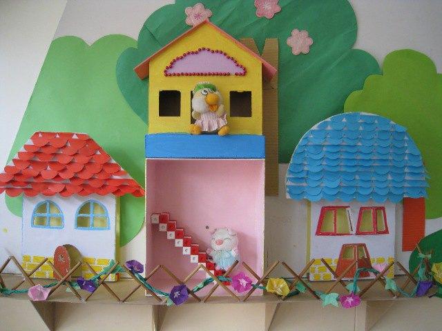 幼儿园墙面装饰主题表现手法图片