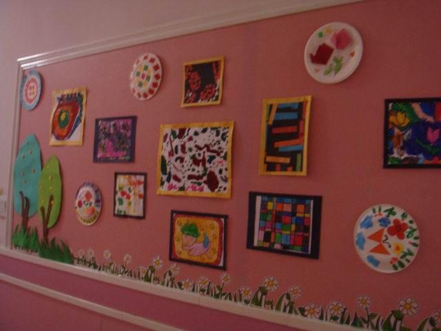 幼儿园环境布置墙面:幼儿作品展--中国幼儿教师