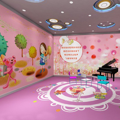 幼儿园小班墙面装饰:放气球的小动物
