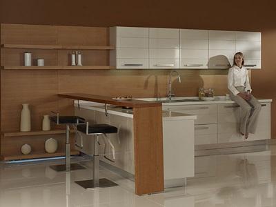 整体厨房装修设计效果图-3158家居网