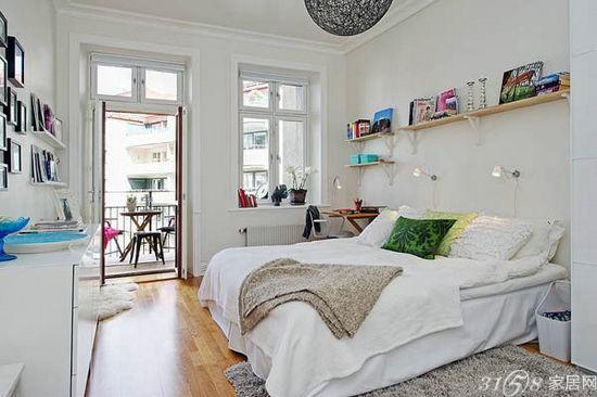 设计; 瑞典清新活力公寓; 60平米小户型精装修简