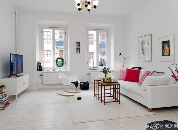 最新北欧简约风格客厅装修效果图