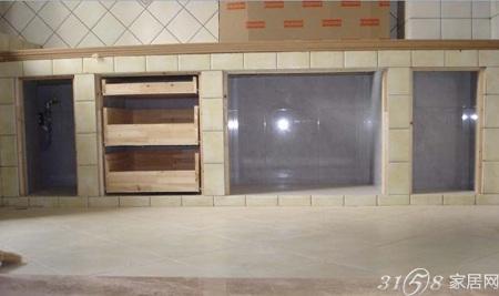 图解砖砌橱柜的施工步骤