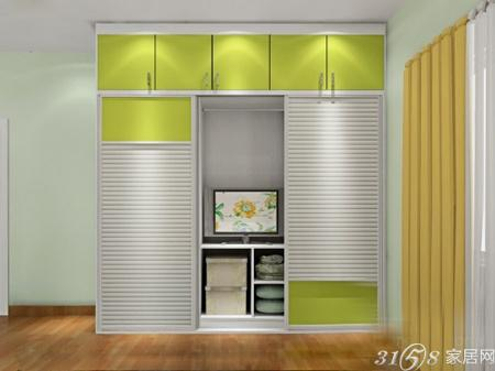 带电视柜的衣柜设计效果图