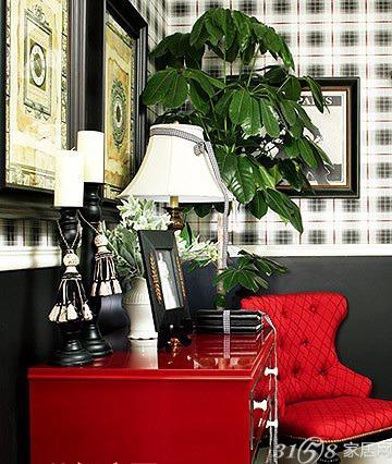 经典红色格子 打造浪漫英伦装修风格