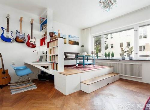 本案例是来自瑞典设计师打造的46平方米一室一厅小户型的空间.