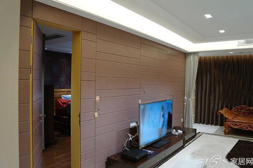 背景墙 条纹板_多款隐形门电视墙装修效果图推荐-3158家居网