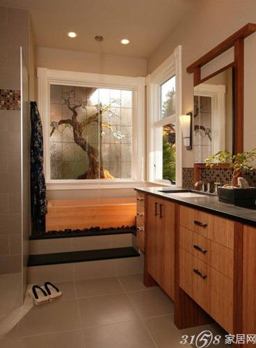 2013最新日式浴缸装修效果图高清图片