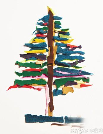 >  家居饰品 5款时尚创意手工圣诞树推荐  找出几块不用的碎布,组合出图片