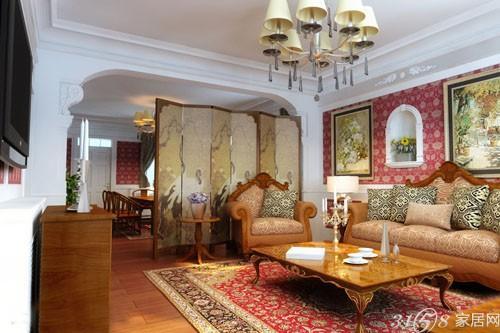 客厅屏风隔断效果图 古朴典雅带来诗意般精彩 高清图片
