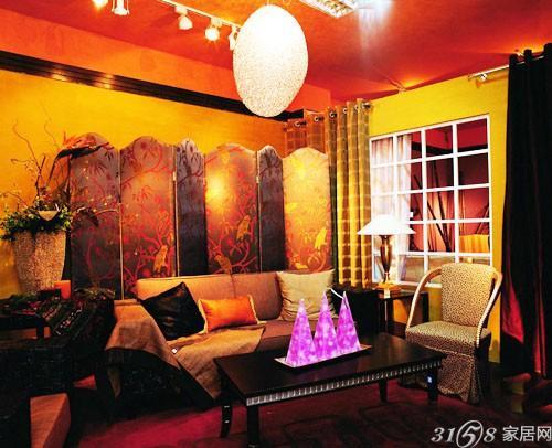 客厅屏风隔断效果图五 客厅屏风隔断效果图 古朴典雅带来高清图片