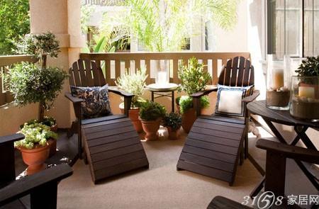 欧式沙发与植物效果图
