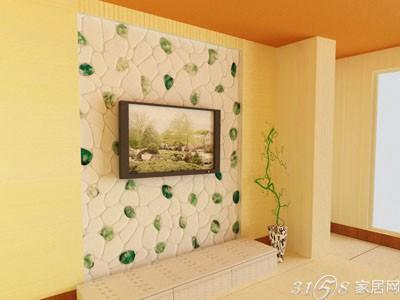 3d电视背景墙壁纸效果图