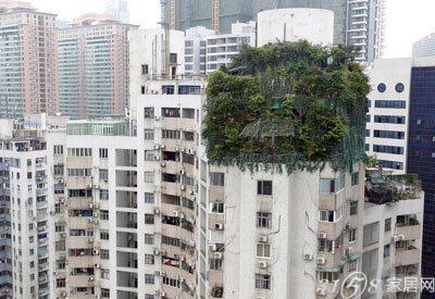 楼顶天台外立面效果图