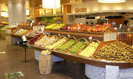 水果超市裝修效果圖 層次擺放布局合理