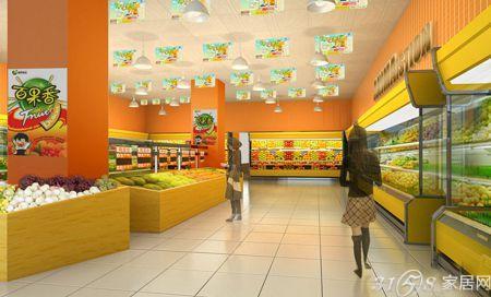 水果超市装修效果图 层次摆放布局合理