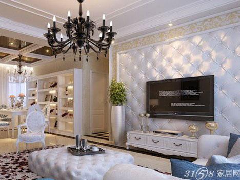 凹凸造型的软包是欧式软包电视背景墙中最常见的装修