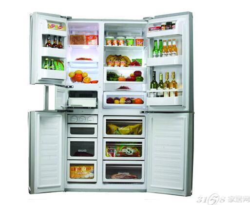 海尔bcd-206sm常见三开门冰箱尺寸:550*560*1739mm(参考价:1899元)