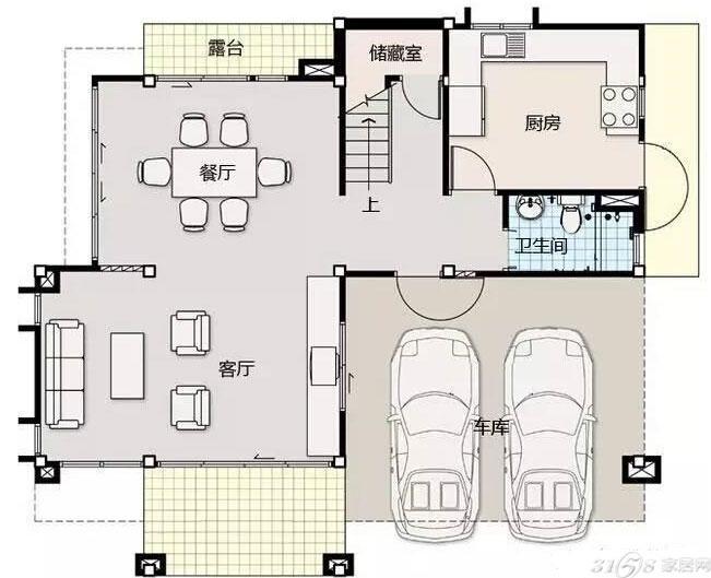新农村自建房2层户型,时尚大方且实用