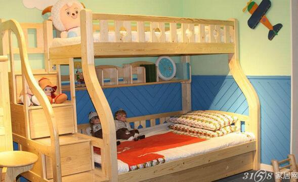 实木双层儿童床 生了二胎也不怕