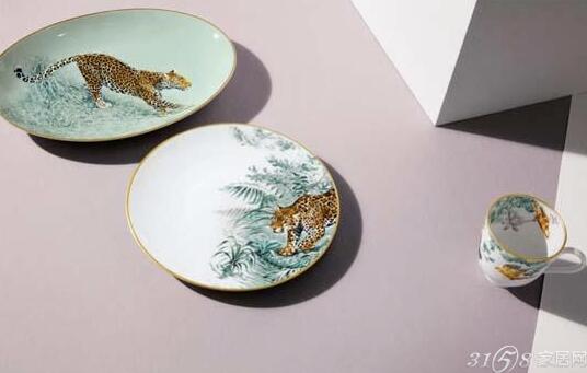 爱马仕家居出品动物系列瓷器