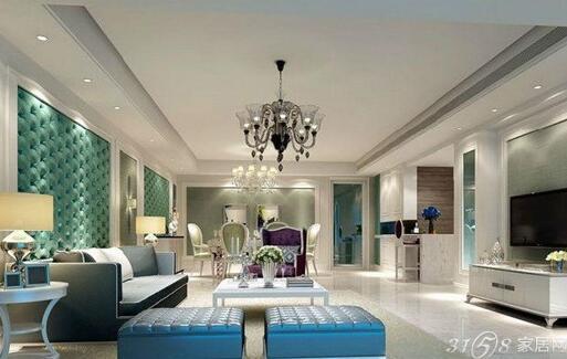 客厅装修样板房效果图六 客厅样板房的设计和其他客厅的设计一样,注重我们的视觉感受。客厅是我们用于见客人的第一空间,不能人压抑的感觉,而且现在很多客厅餐厅连在一起,在设计的时候就要注意隔断层的处理。虽然说样板房的设计图不用于我们真实的居住,但是可以有一个很好的参考价值。