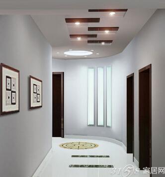 欧式客厅走廊吊顶图