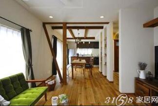 75小两居装修设计的清新自然风
