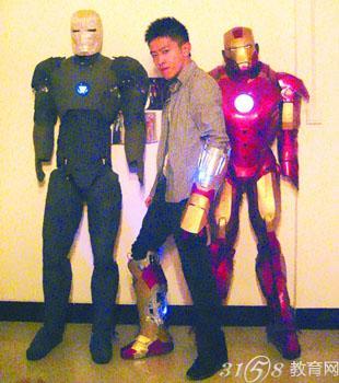 痴迷 钢铁侠 ,立志打造战衣 真实版 钢铁侠 战衣面世 重庆 高清图片