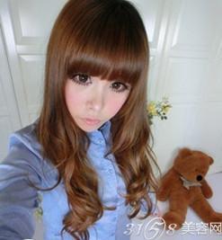 2014韩国流行发型女生长发清新亮丽图片