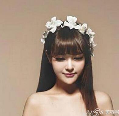 有刘海的新娘发型 打造浪漫新娘造型