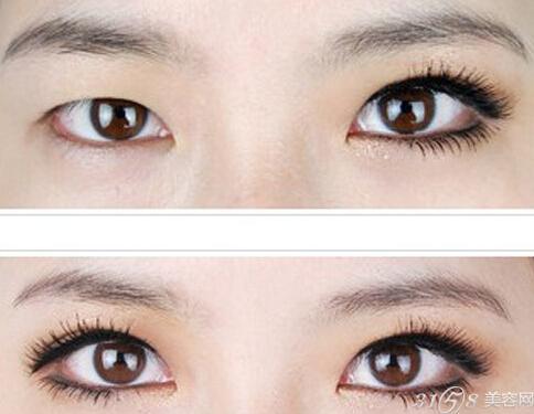 放大眼睛的眼线画法