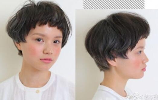 女生超短蘑菇头发型图片图片