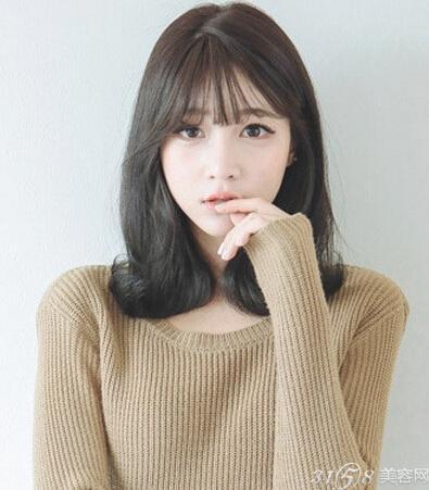 韩式空气刘海长发发型