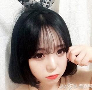 短发空气刘海图片,清爽甜美还减龄