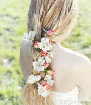新娘鲜花发型用什么花?图片