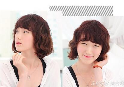 短发蛋卷头韩版烫发 时尚甜美又显脸小