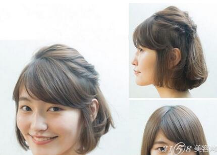 短发半丸子头扎法 甜美又可爱