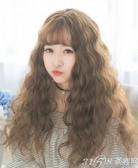 中长玉米烫发型图片 韩国MM都爱疯了图片