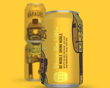 创意啤酒设计 两罐联销