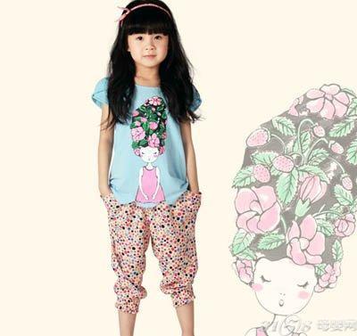 马拉丁童装用植物表现孩子的可爱