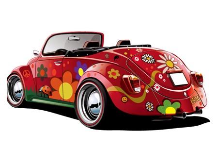 主流创业项目 汽车涂鸦店高清图片