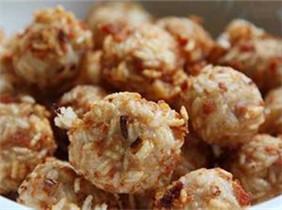 山东枣庄的特色菜:含羞丸子