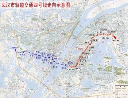 武汉地铁4号线二期站点及线路图图片 54179 417x318